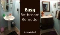 Easy Bathroom Remodel with Moen Boardwalk Faucet