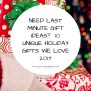 Need Last Minute Gift Ideas 10 Unique Holiday Gifts We