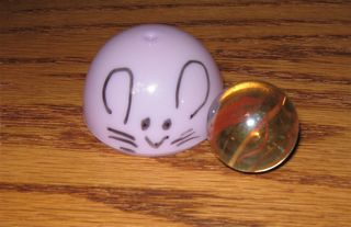 plastic egg marble car