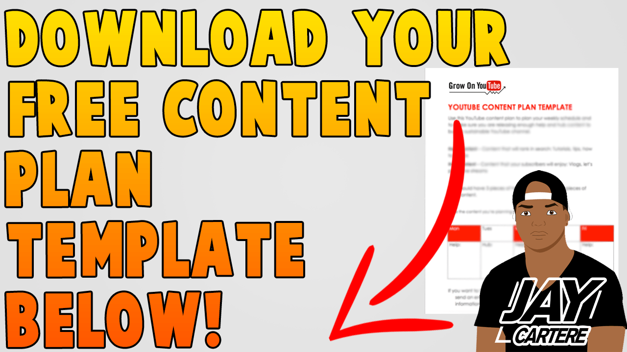 download free content plan template