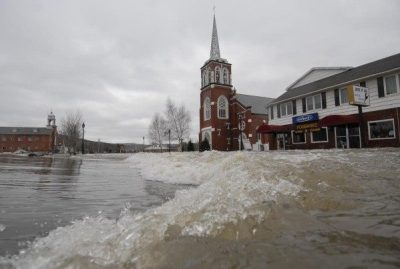 Fort Kent, Maine, flood in 2008. Photo courtesy of Bangor Daily News