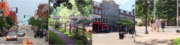 Bangor walkability photo collage