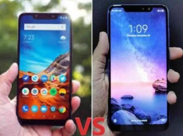 Xiaomi Poco F1 vs Redmi Note 6 Pro