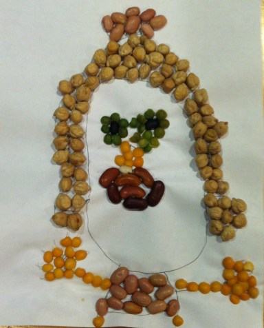 "...just look at her creation! We call her the ""Bean Queen"""