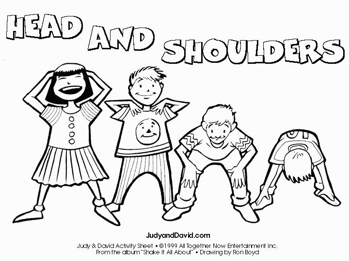 Head Shoulders Knees And Toes Coloring Page Pictures With