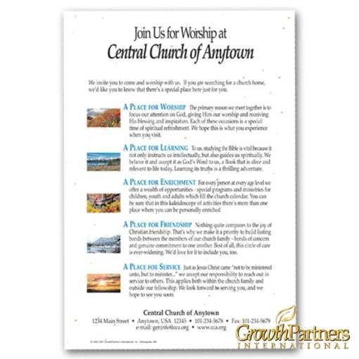 invitational church leaflet