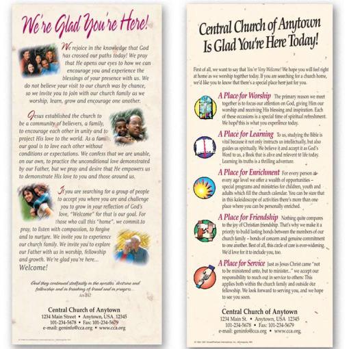 slim 4x9 church leaflets