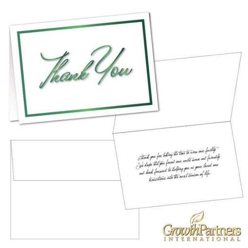 White thank you cards and envelopes