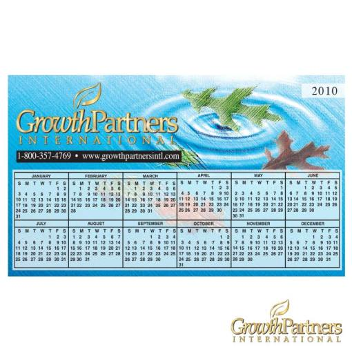 Water and leaves calendar magnet