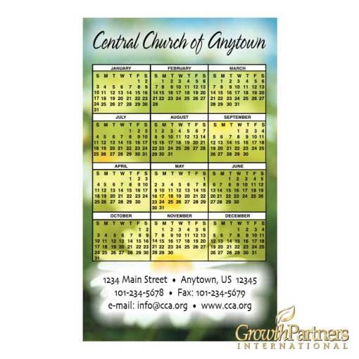 Wildflower calendar magnet