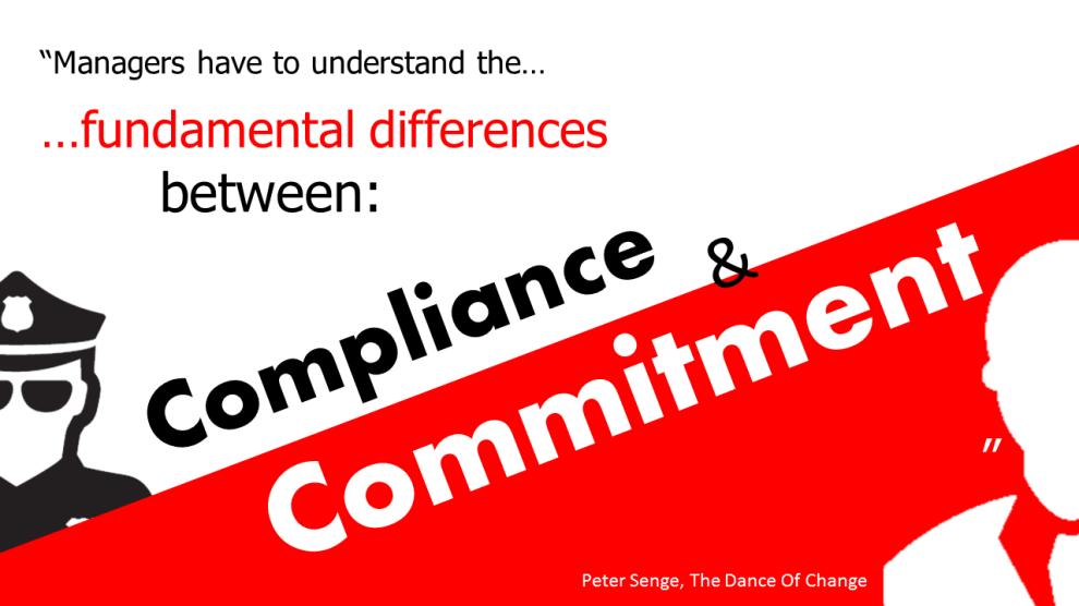 compliance versus commitment in sales