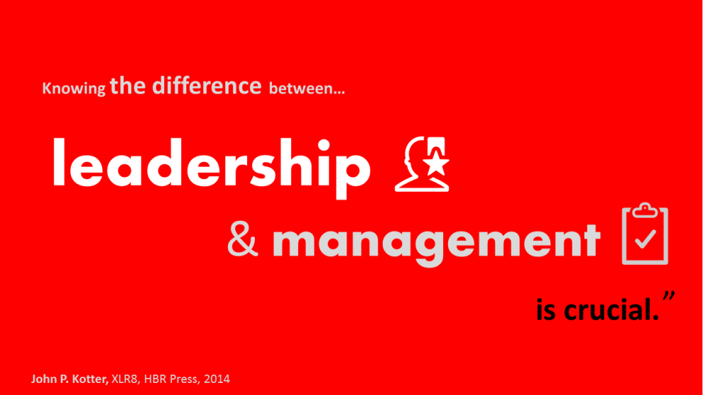 The difference between sales management and sales leadership