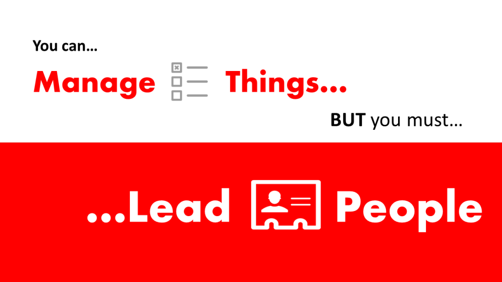 The difference between managing and leading sales