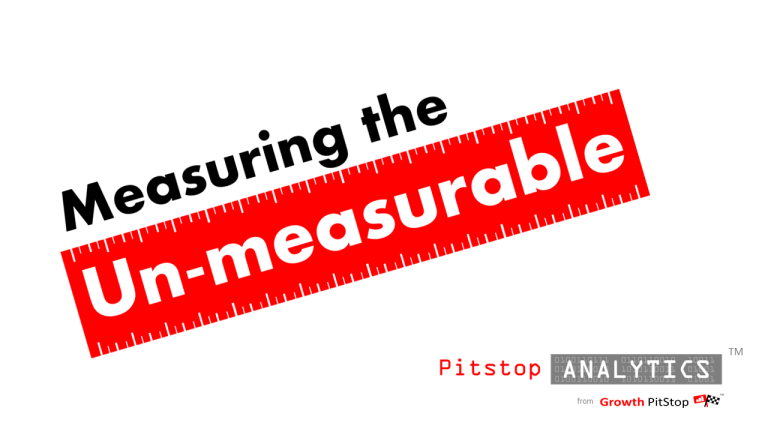 pitstop analytics measures the unmeasurable