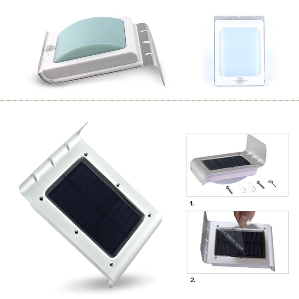 1Pcs 16 LED Solar Power Motion Sensor Garden Security Lamp