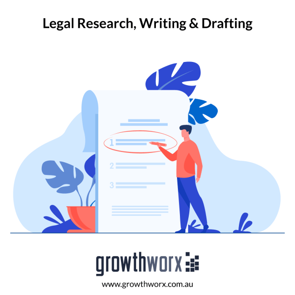 I will do legal research, writing, and drafting including contract 1