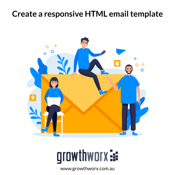 Create a responsive HTML email template 1