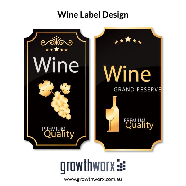 We will design a unique and professional wine label 1