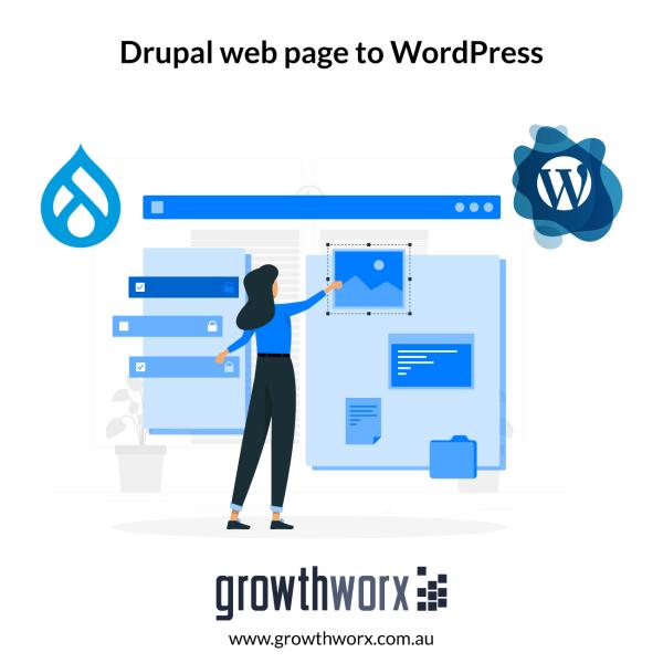 Convert one page Drupal web page to WordPress 1