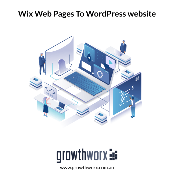 Convert six Wix web pages to a WordPress website 1