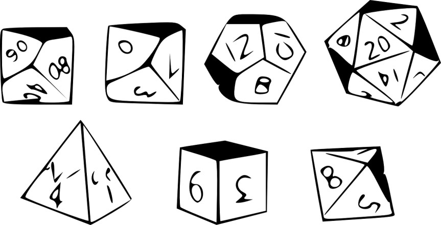the full set of 5e dice