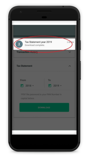 How to obtain tax statement from the Groww app