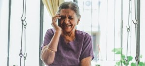 old woman on phone rcom reliance communications