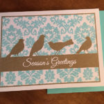 4 Birds Holiday Card Set