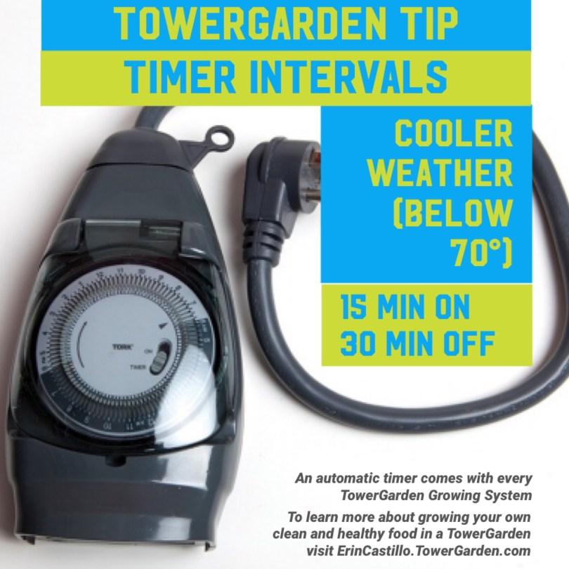 Tower Garden Timer Interval Tip