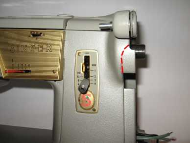 Singer 328K cut out for treadle belt
