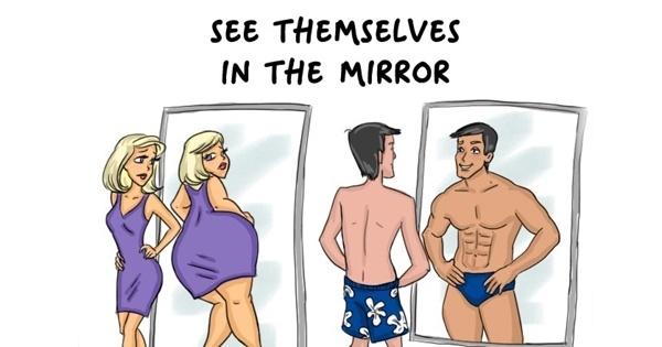 Cum se vad barbatii cum se vad femeile