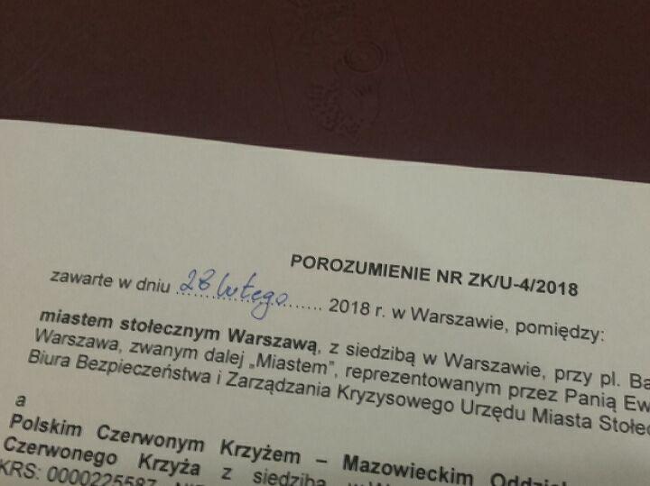 Porozumienie z Miastem st. Warszawa