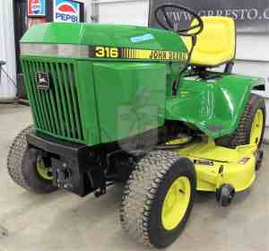 John Deere 316 for Sale  1990 Lawn and Garden Tractor in