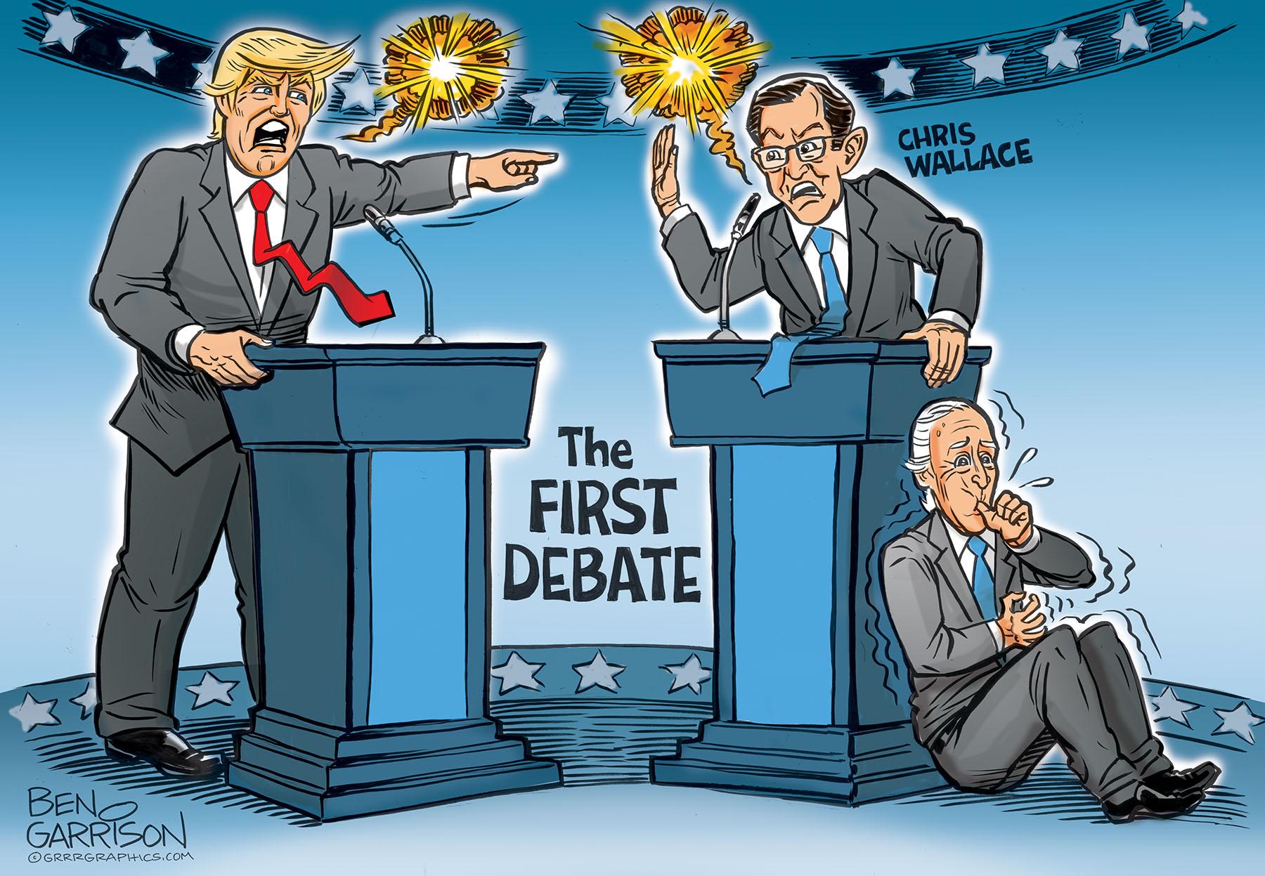Trump Vs Wallace First Presidential Debate Grrr