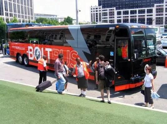 bolt bus washington new york, bus travel with free wifi service