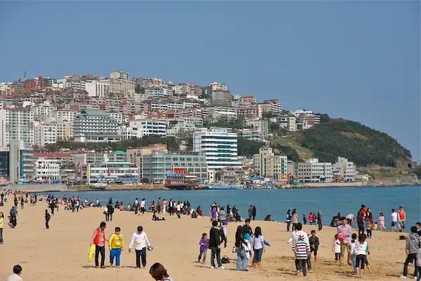 haeundae beach, busan tourism, travel busan,