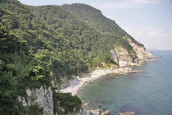 taejon-dae cliffs busan, hike taejondae