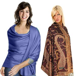Pashmina scarf used for towel and fashion