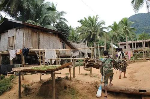 Lao village homes
