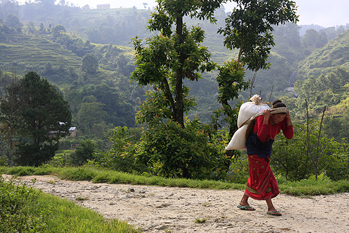 nepalese work woman