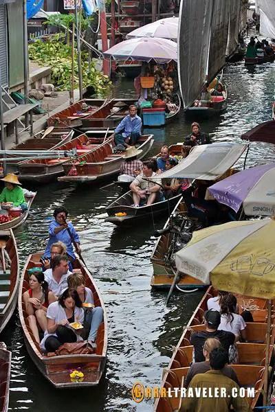 damnoen saduak floating market bangkok, popular floating markets in thailand, famous floating markets in thailand, thailand attractions