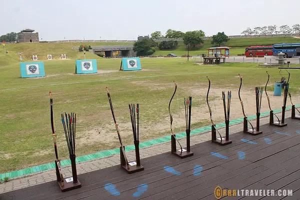 suwon archery, archery in korea, joseon warrior, suwon attractions