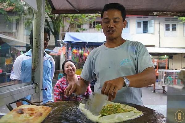 balinese food, Martabak Telor, balinese street food