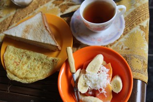 A standard complimentary breakfast at your guesthouse