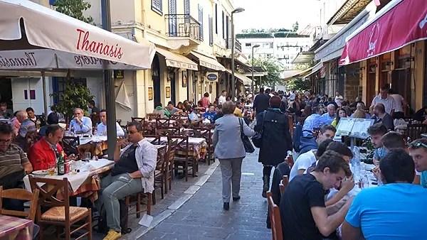 greek sidewalk cafes