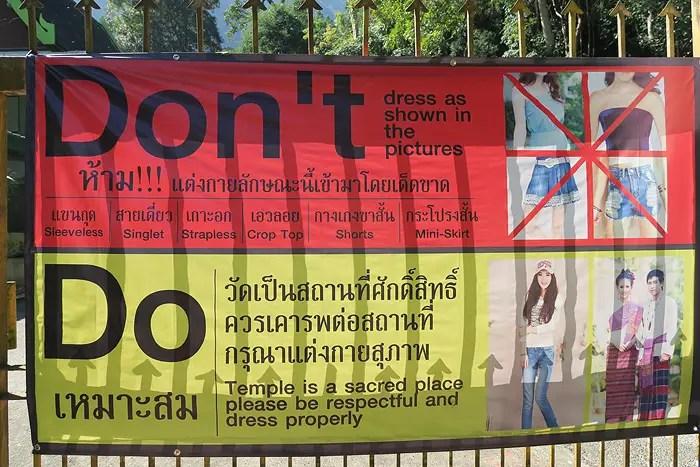 temple dress code thailand