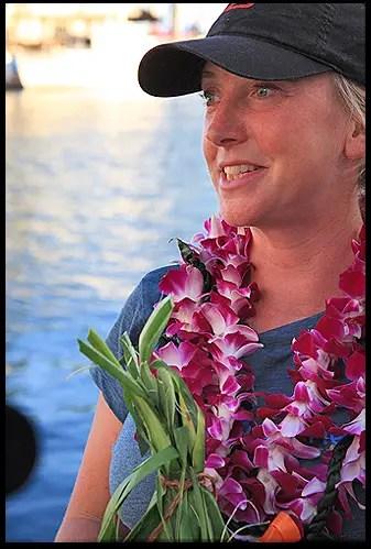 roz savage in Hawaii