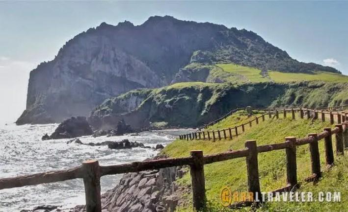 Sunrise peak jeju island, olle trail jeju island