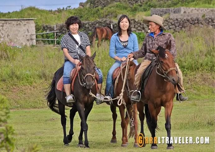 horseback riding on udo island jejudo