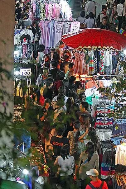 Bangkok Walking Street at Victory Monumentm bangkok markets